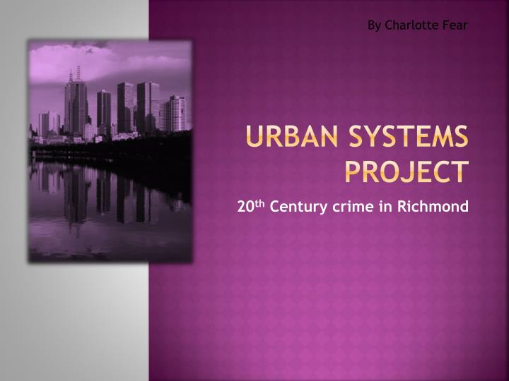 urban systems project n.