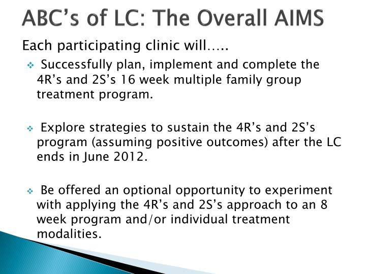 ABC's of LC: The Overall AIMS