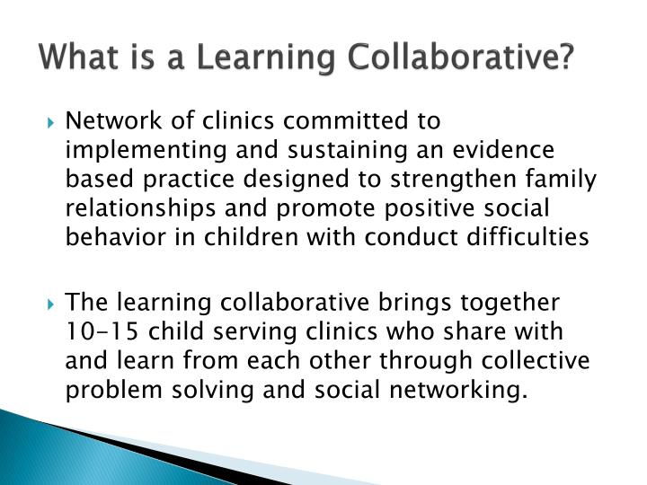 What is a Learning Collaborative?