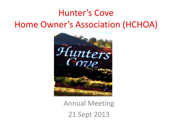 hunter s cove home owner s association hchoa n.