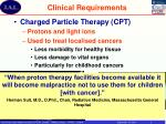 clinical requirements