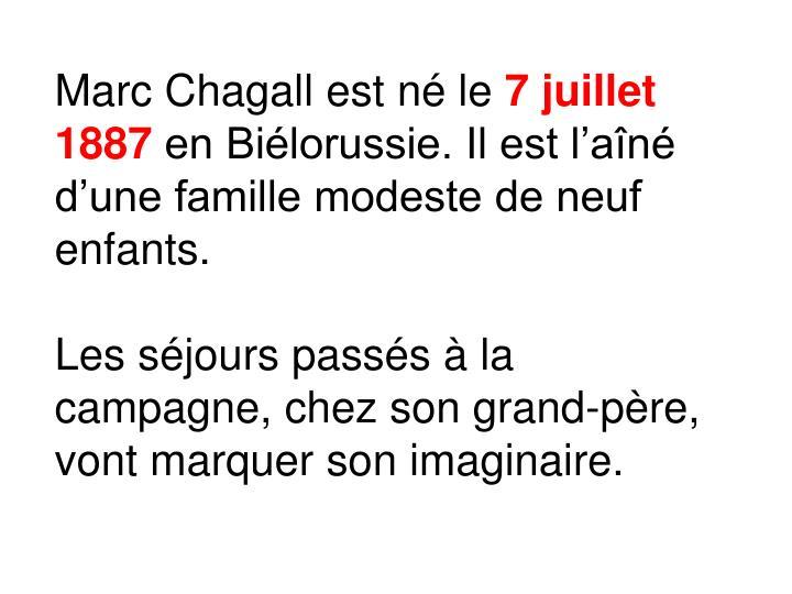 Marc Chagall est né le