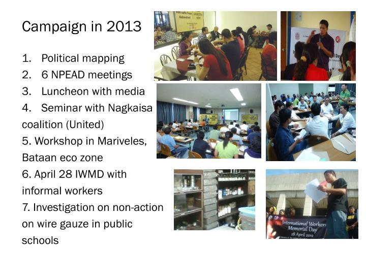 Campaign in 2013