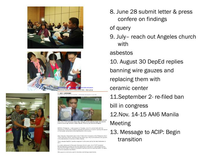 8. June 28 submit letter & press
