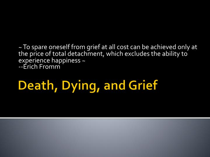 death dying and grief n.