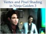 vertex and pixel shading in ninja gaiden 35