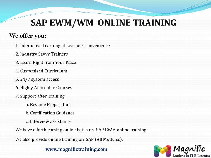 ppt sap wm with free demo class it