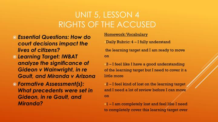 unit 5 lesson 4 rights of the accused n.