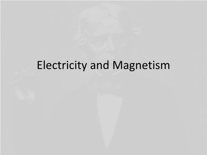 electricity and magnetism n.