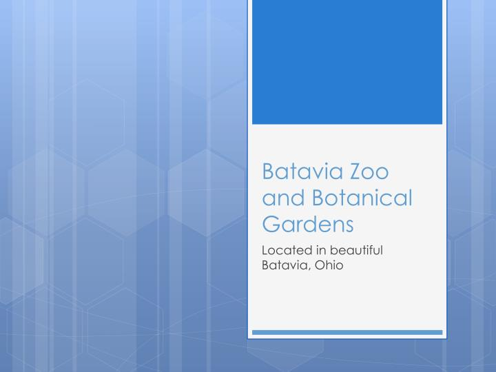 batavia zoo and botanical gardens n.