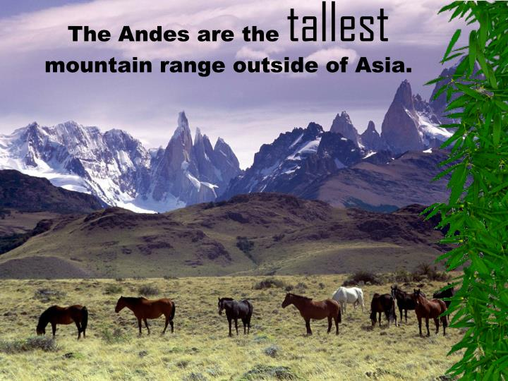 The Andes are the