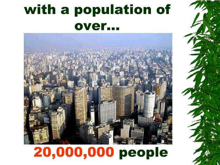 with a population of over…