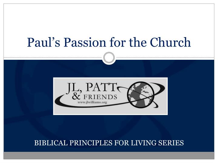 paul s passion for the church n.