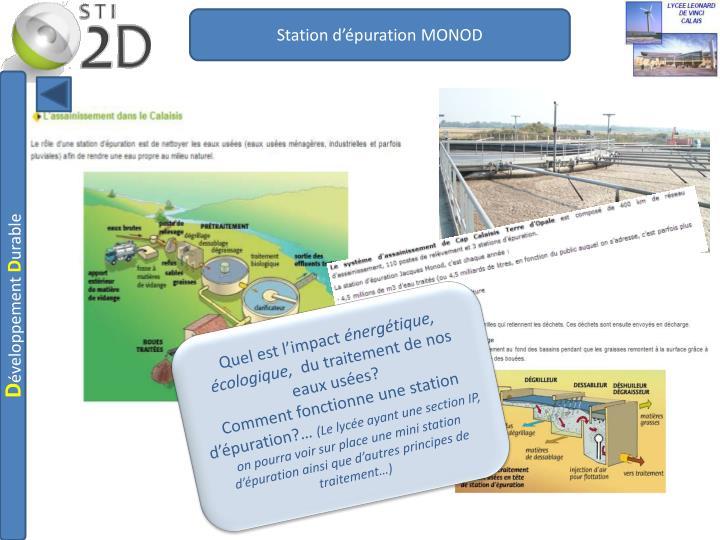Station d'épuration MONOD