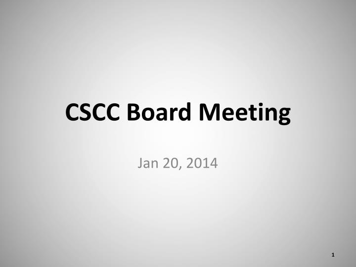 Cscc board meeting