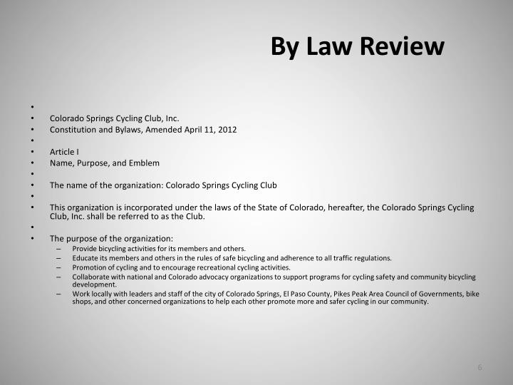 By Law Review
