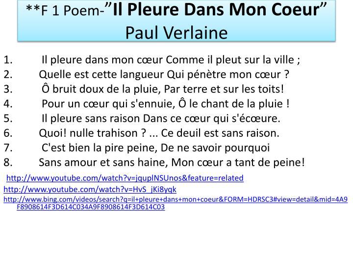 **F 1 Poem-