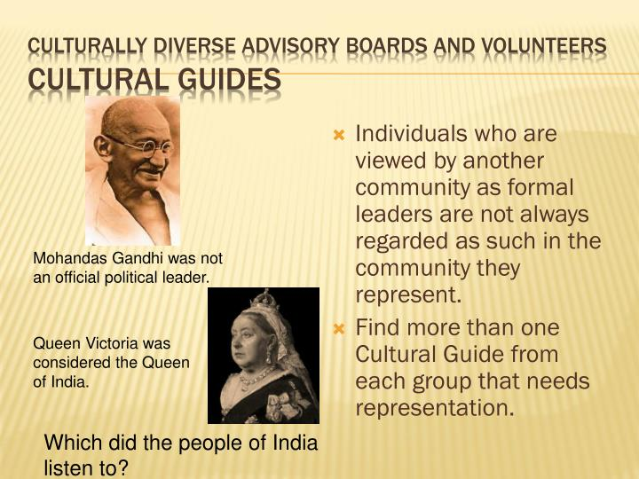 Culturally Diverse Advisory Boards and Volunteers