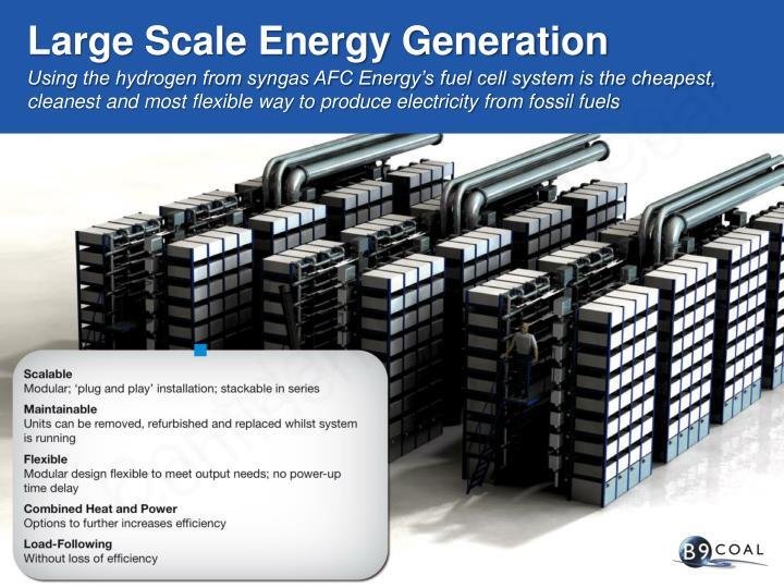 Large Scale Energy Generation