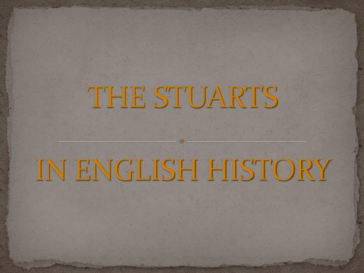 the stuarts in english history n.