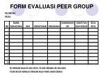 form evaluasi peer group