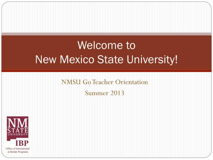 welcome to new mexico state university n.
