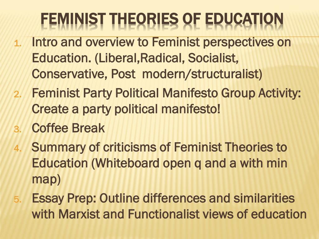 similarities between feminism and marxism