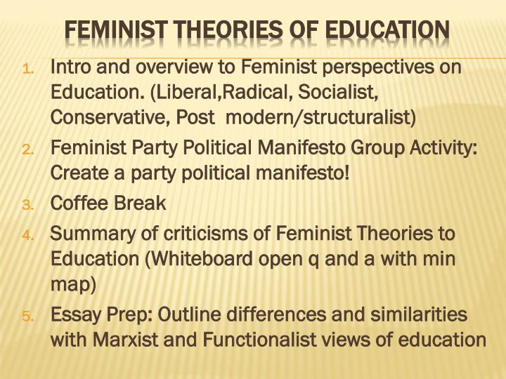 feminist theories of education n.