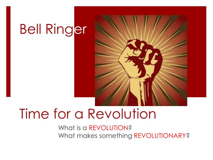 time for a revolution n.