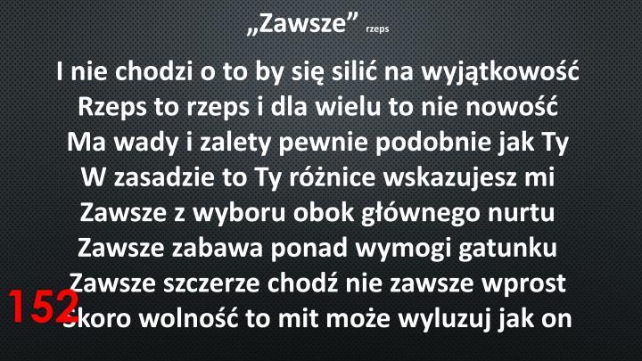 """""""Zawsze"""""""