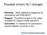 possible minor hl1 changes