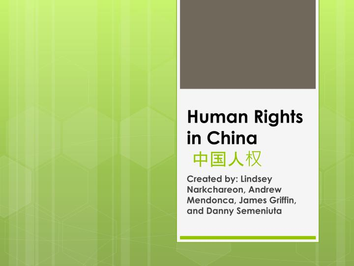human rights in china n.