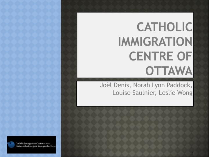 Catholic immigration centre of ottawa