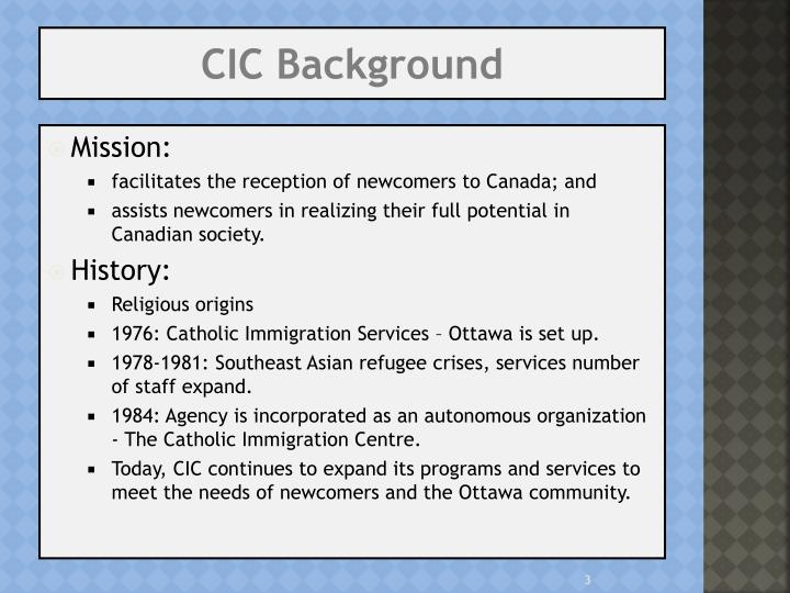 Cic background