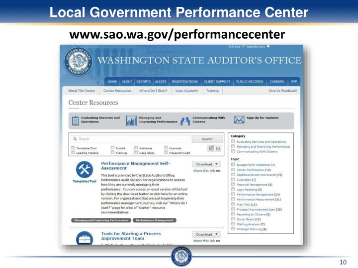 Local Government Performance Center