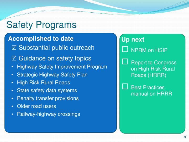 Safety Programs