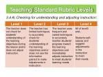 teaching standard rubric levels1