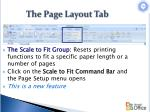 the page layout tab3
