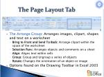 the page layout tab5