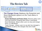 the review tab2