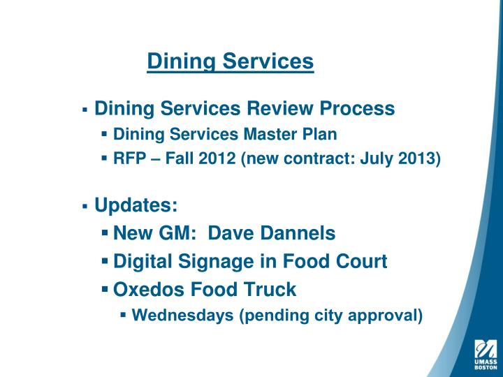 dining services n.