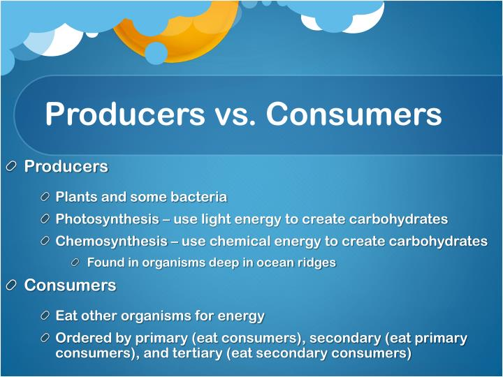 Producers vs. Consumers