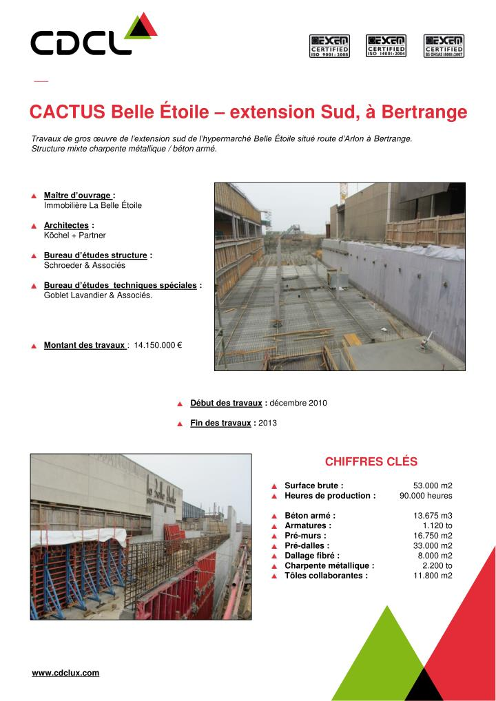 cactus belle toile extension sud bertrange n.