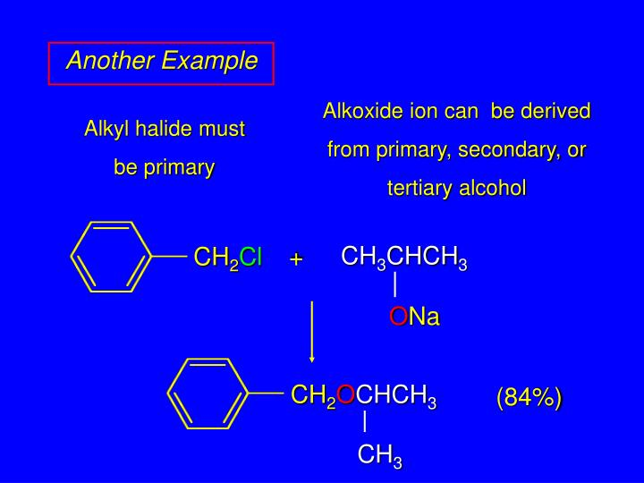 Alkoxide ion can  be derived