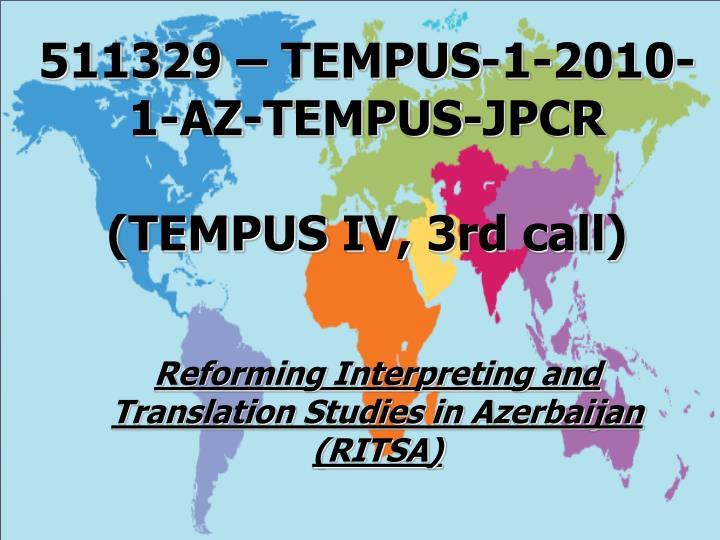 511329 – TEMPUS-1-2010-1-AZ-TEMPUS-JPCR