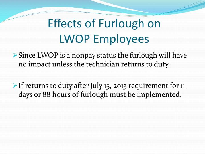 Effects of Furlough on