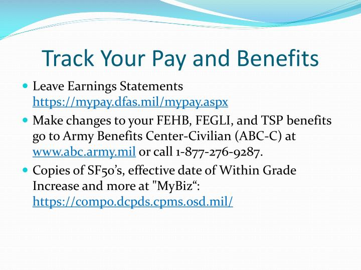 Track Your Pay and Benefits