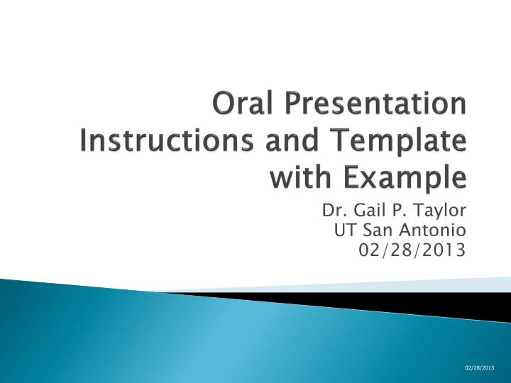 oral presentation instructions and template with example n.