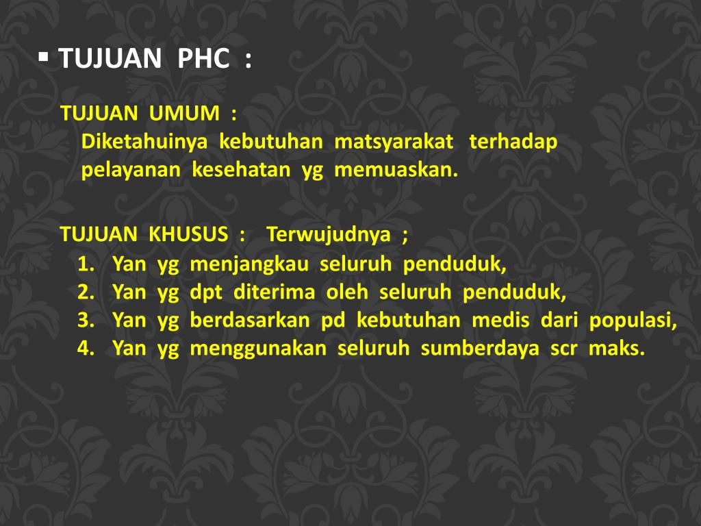 PPT - PRIMARY HEALTH CARE ( PELAYANAN KESEHATAN PRIMER ...