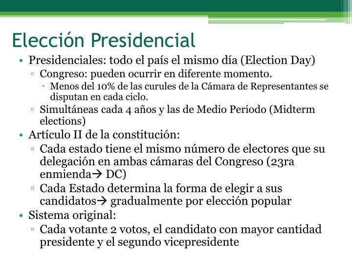 Elección Presidencial